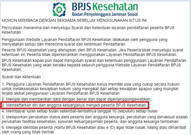 Syarat Ketentuan BPJS Kesehatan