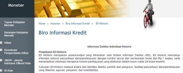 SID Biro Informasi Kredit