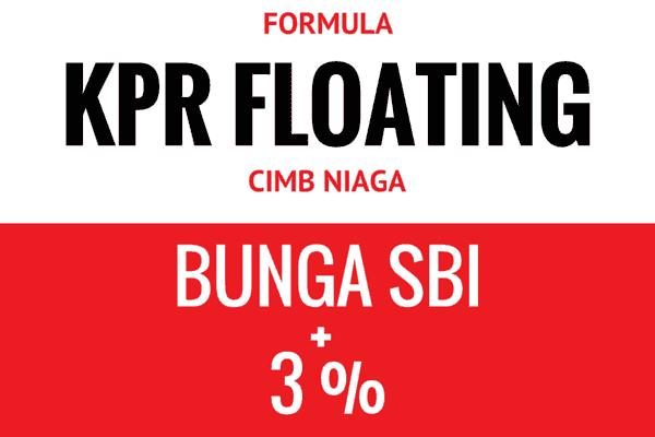 Formula Suku Bunga KPR Floating Bank CIMB Niaga