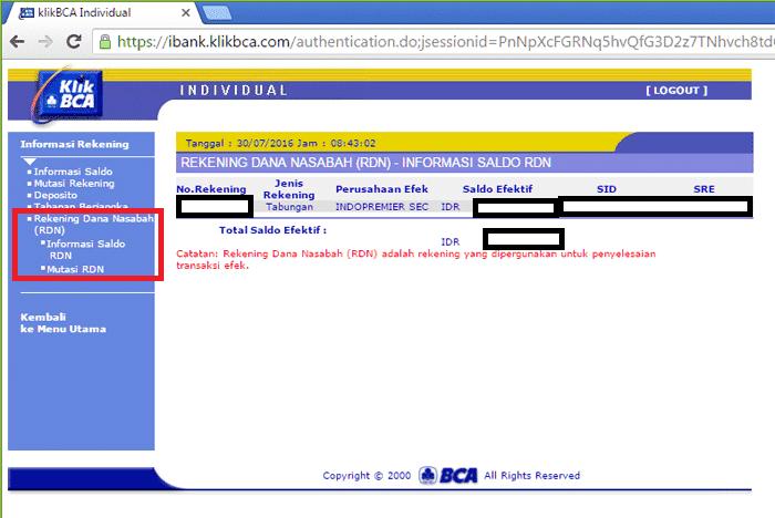 Rekening Reksadana BCA