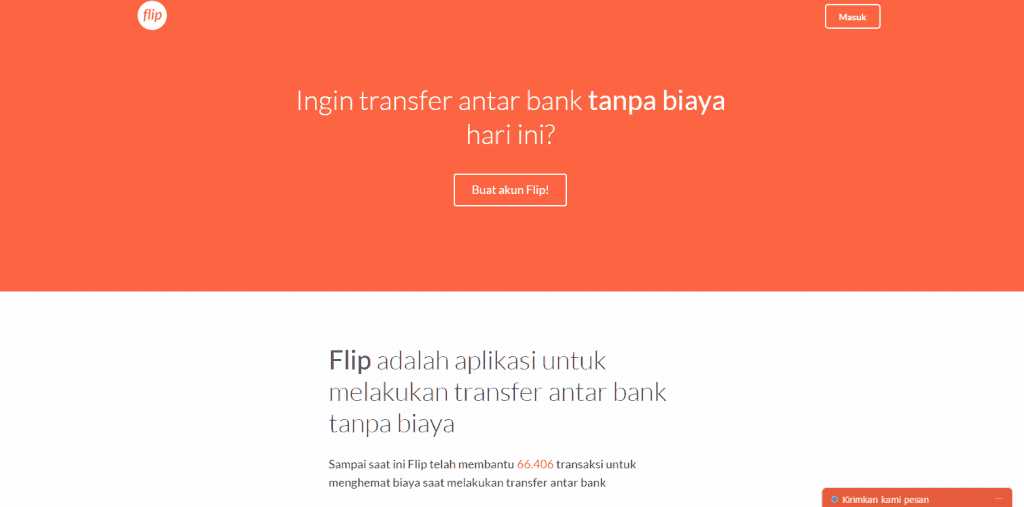 Transfer antar bank tanpa biaya flip