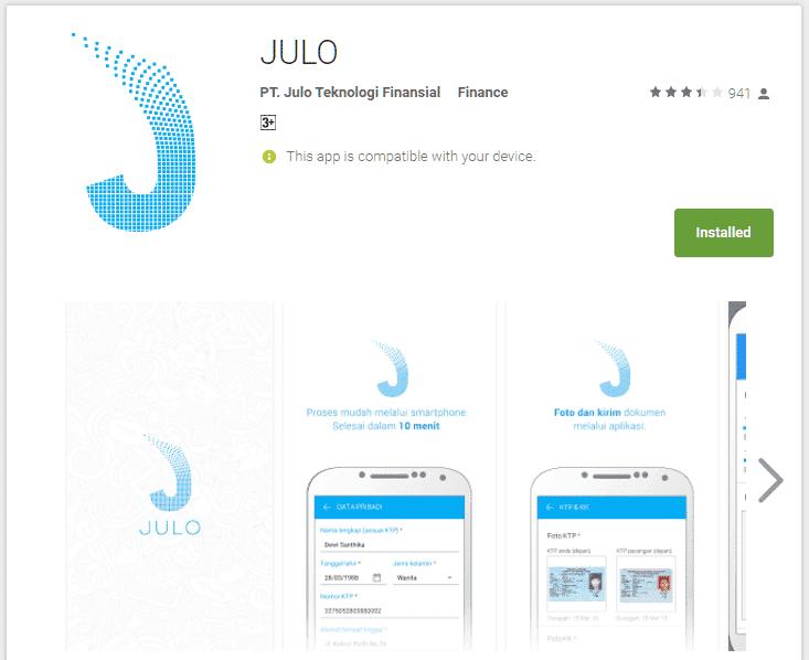 Julo Aplikasi Kredit Online.