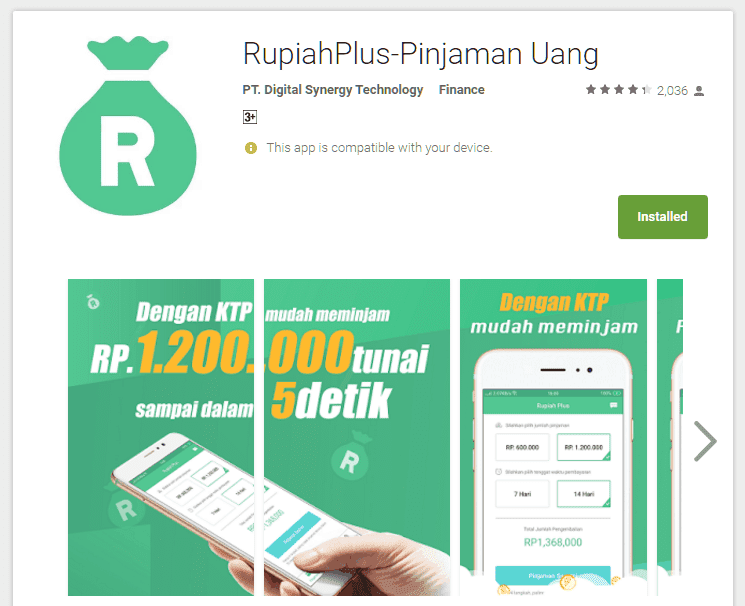 Aplikasi Pinjaman Online RupiahPlus