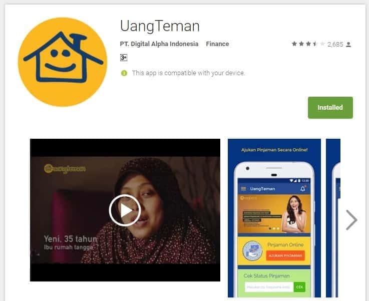 Aplikasi Pinjaman Online Fintech UangTeman