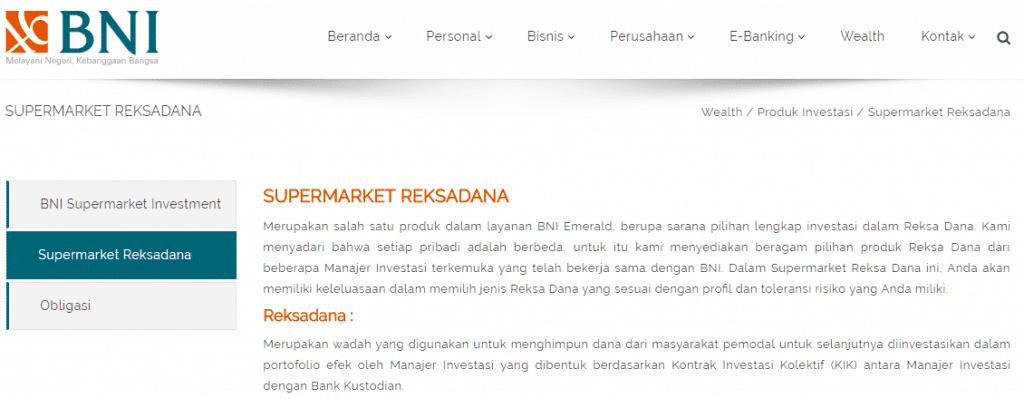 Bank BNI Jual Reksadana