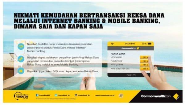Investasi di Bank: Commonwealth Bank Jual Reksadana