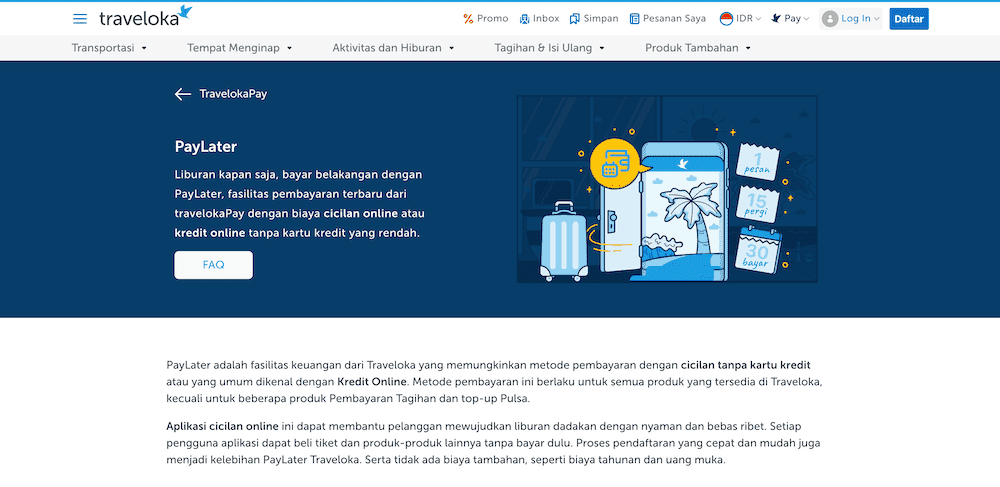 Traveloka PayLater Pinjaman Online