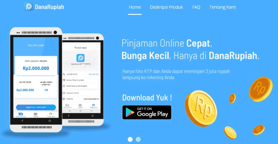 aplikasi pinjaman online danarupiah