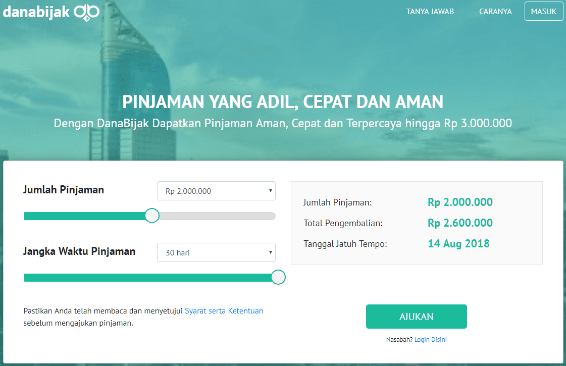 Pinjaman Online 24 Jam DanaBijak