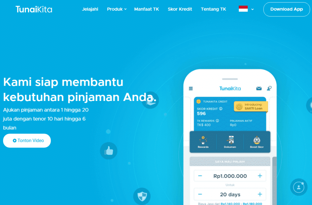 Pinjaman Online 24 Jam TunaiKita Indonesia