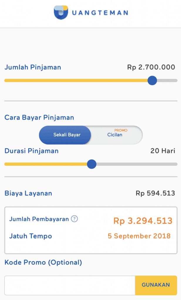 UangTeman Pinjaman Online 2018