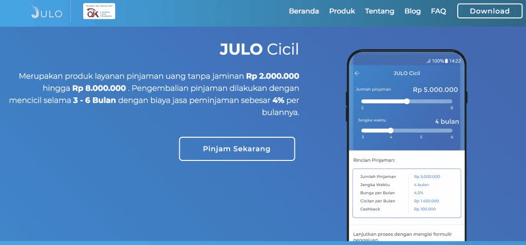 Pinjaman Online Cicilan Julo