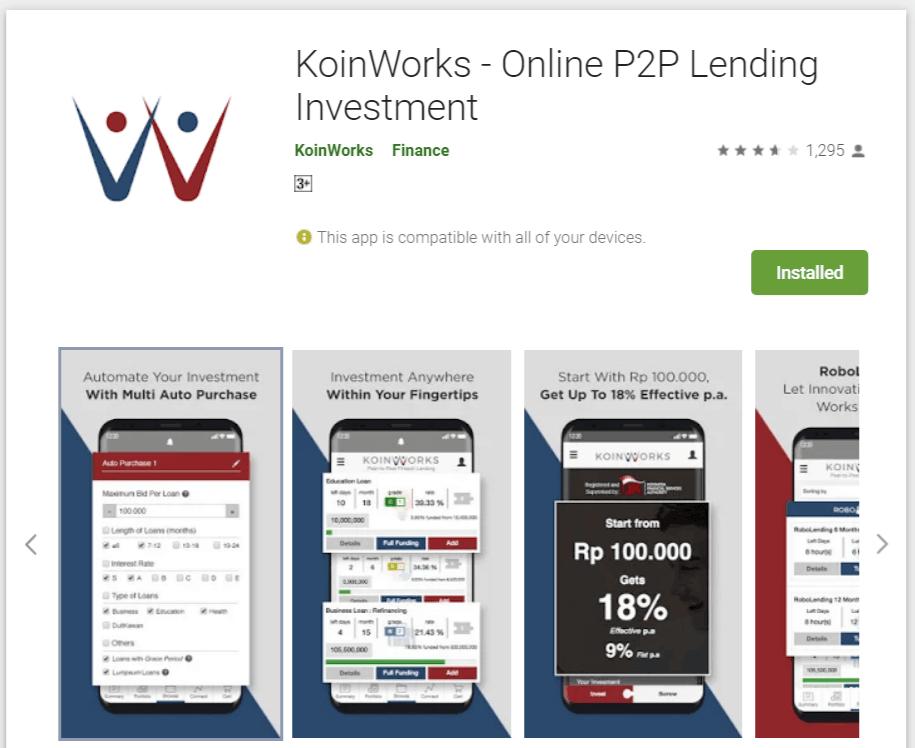 Aplikasi Koinworks Playstore