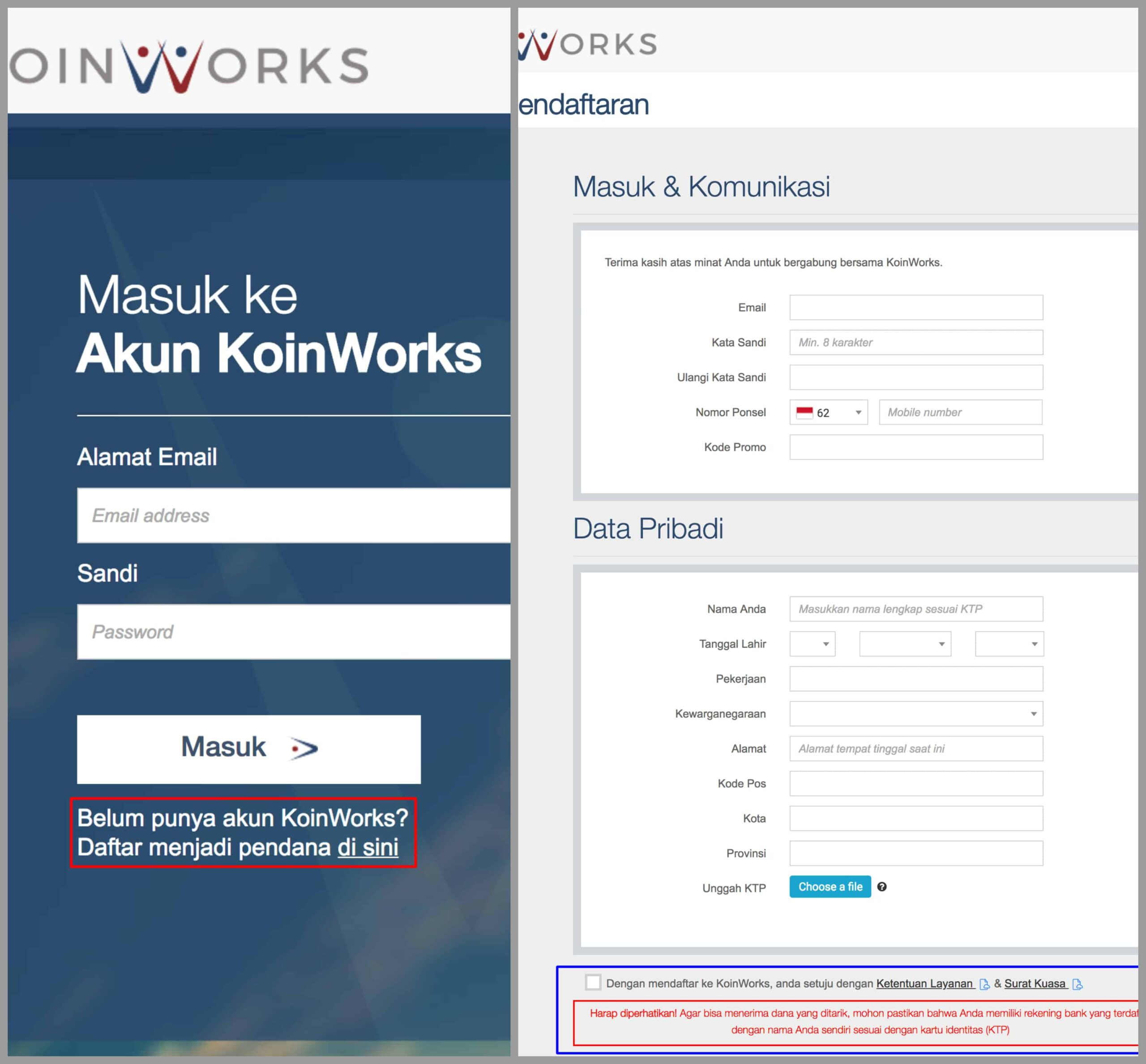 KoinWorks Review Pendaftaran