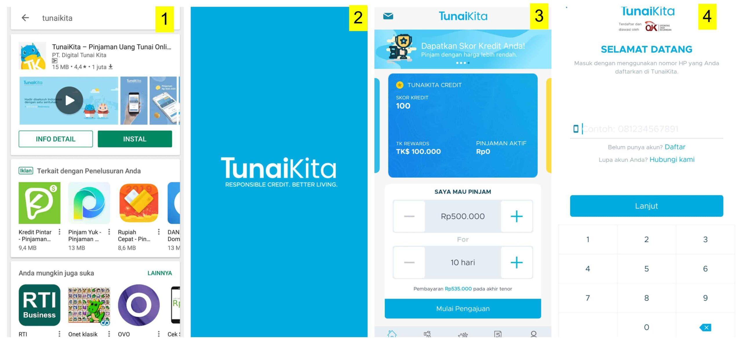 Aplikasi Pinjaman Dana Tunai TunaiKita Cepat Cair