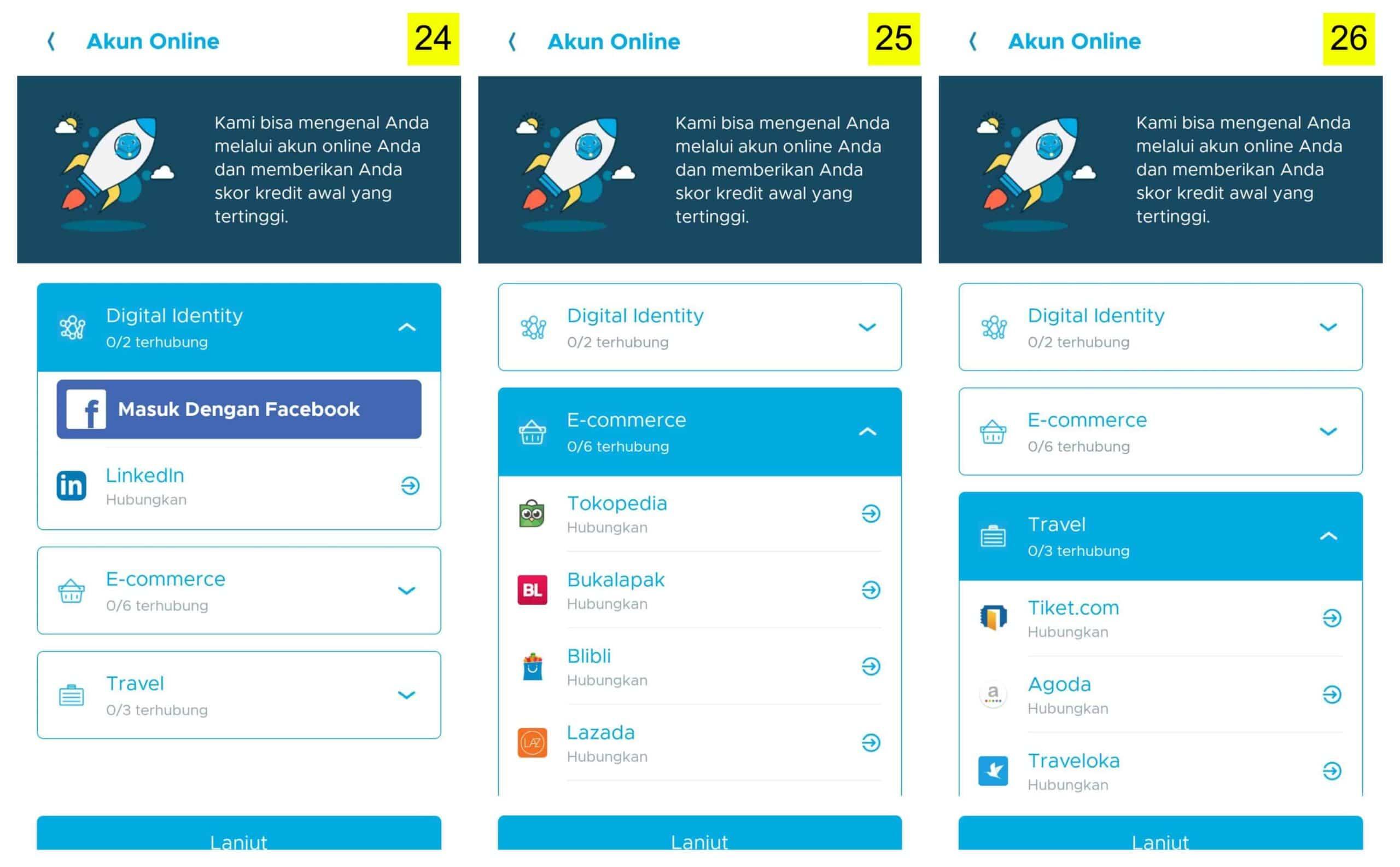 Koneksi ke Akun Bank, E-Commerce di Aplikasi Pinjaman Online