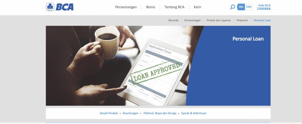 KTA Personal Loan BCA 2019