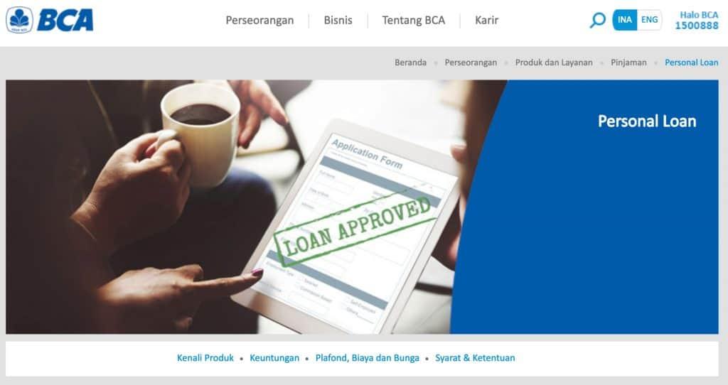 KTA BCA 2019 Personal Loan