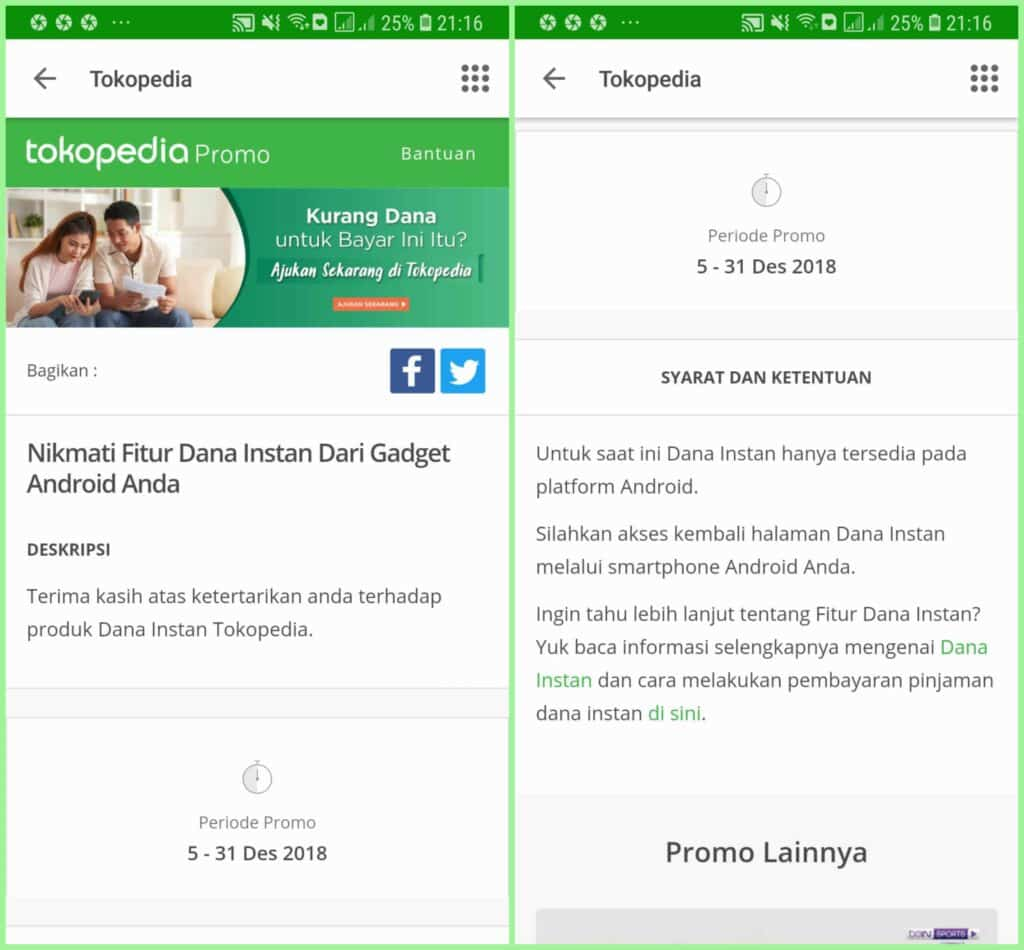 Pinjaman Online Tokopedia 2019