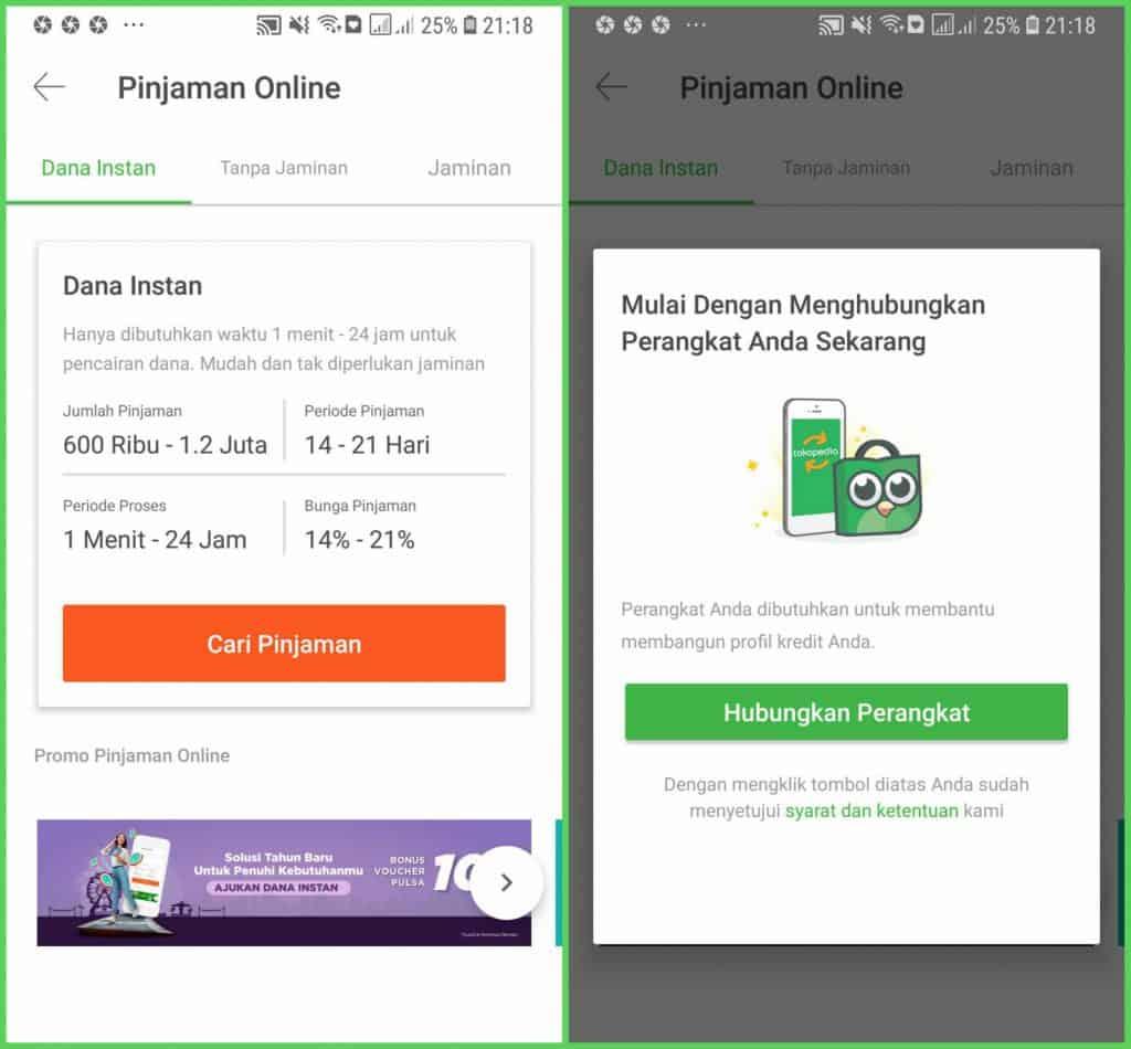 Pilihan Pinjaman Dana Tunai di Tokped