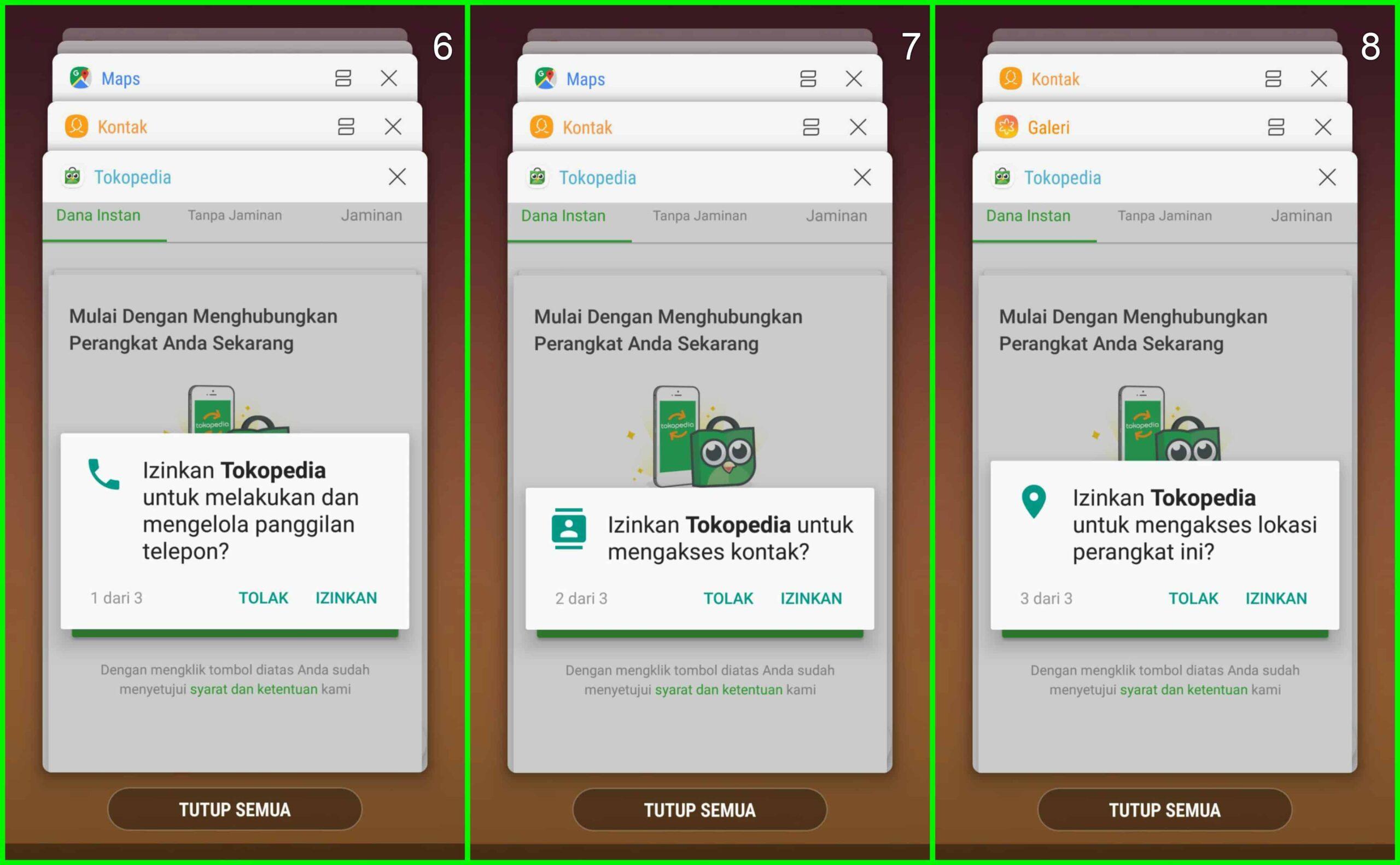 Data Pribadi Pinjaman Online Tokped