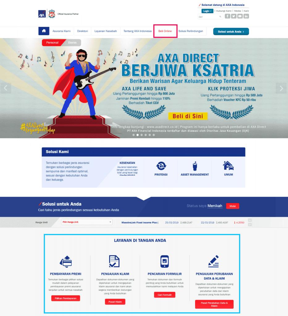 Asuransi AXA Online 2019