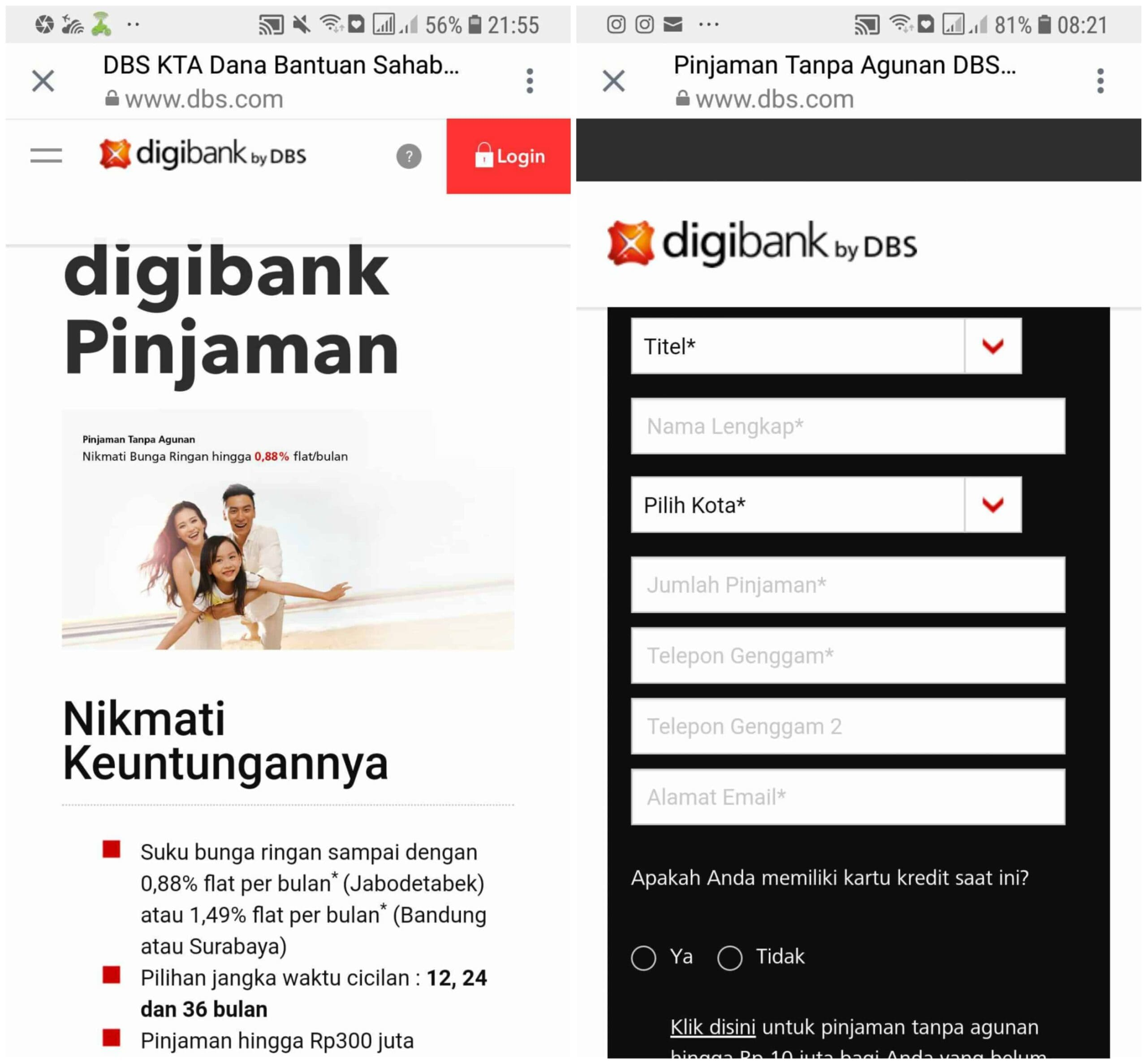 KTA DBS Online Digibank 2019