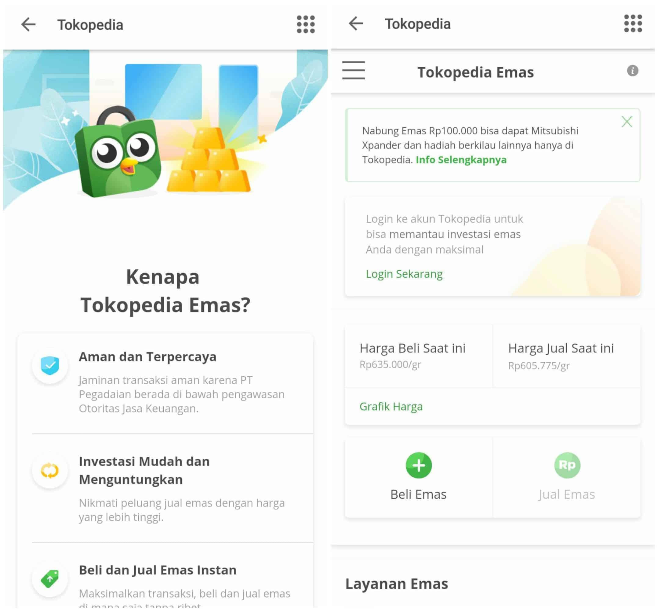 Tokopedia Emas Investasi Online
