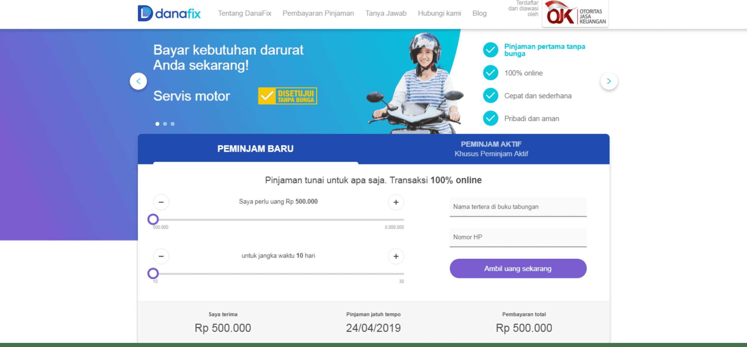 Danafix pinjaman uang yang bisa dicicil