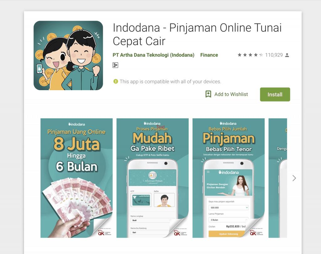 Pinjam Uang Online Dana Tunai Indodana