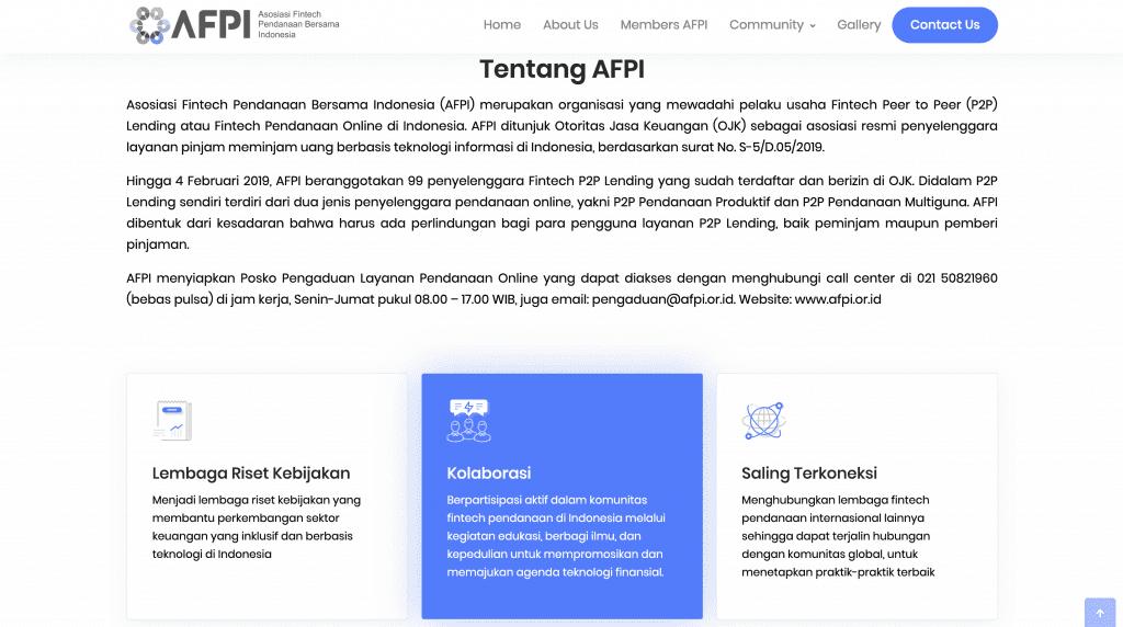 AFPI P2P Lending Indonesia Fintech 2019