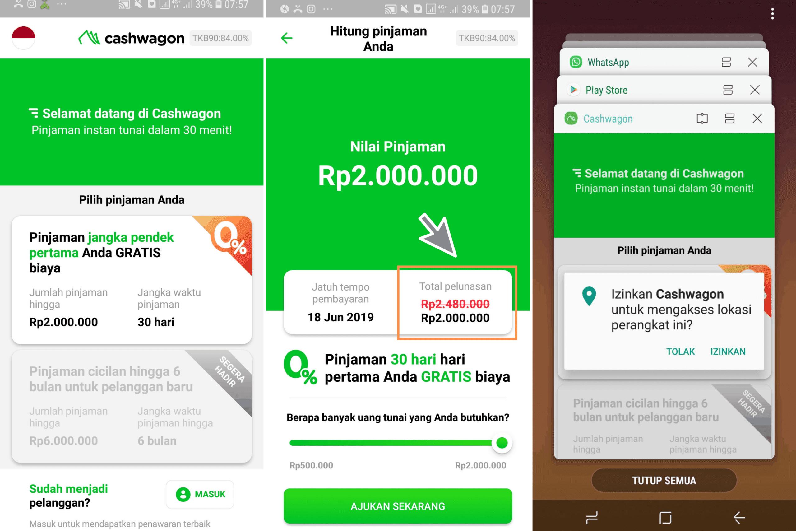 Pinjaman Bunga 0% Cashwagon 2019