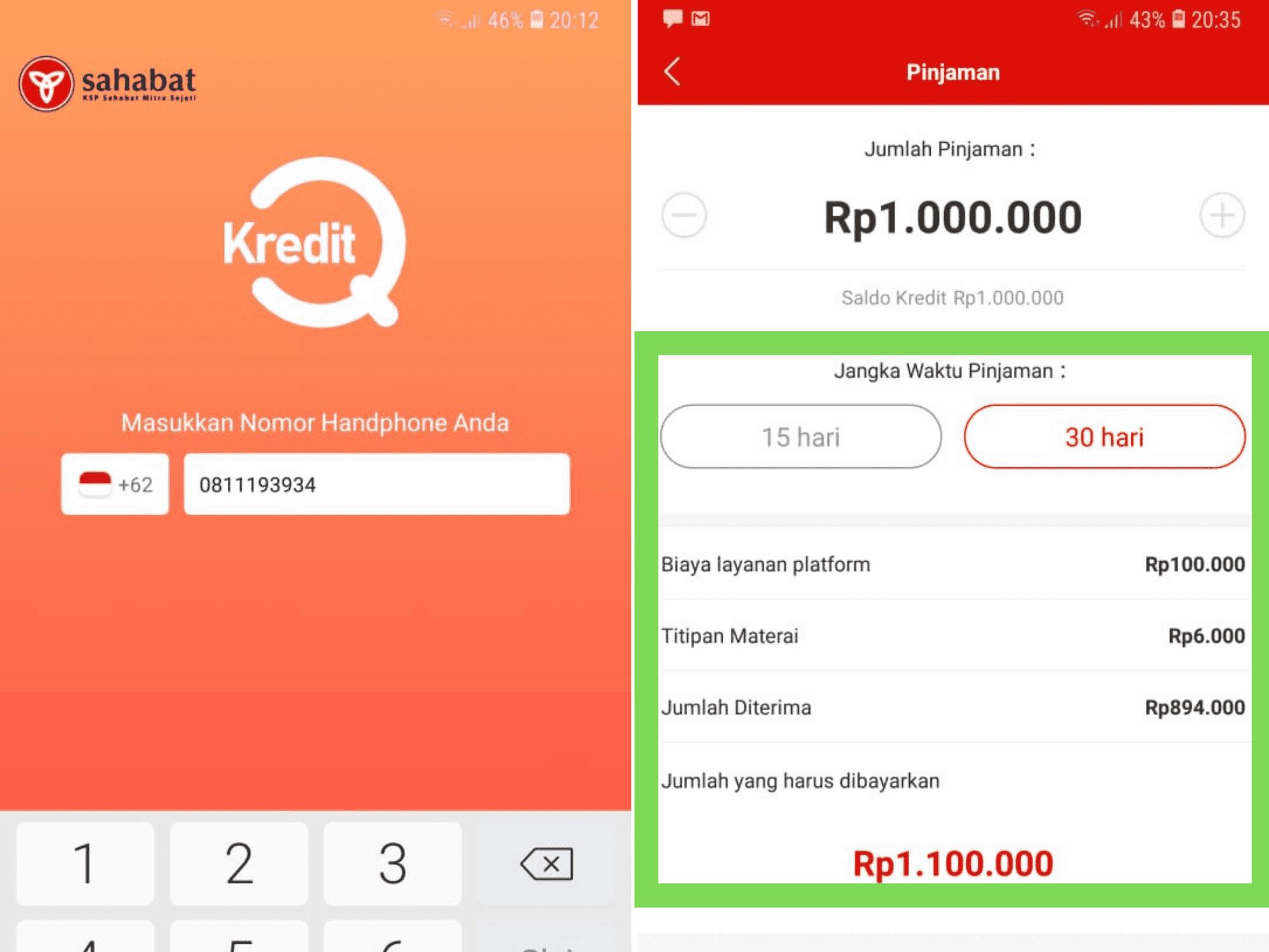 KreditQ Pinjaman Koperasi Online Dana Tunai Tanpa Jaminan
