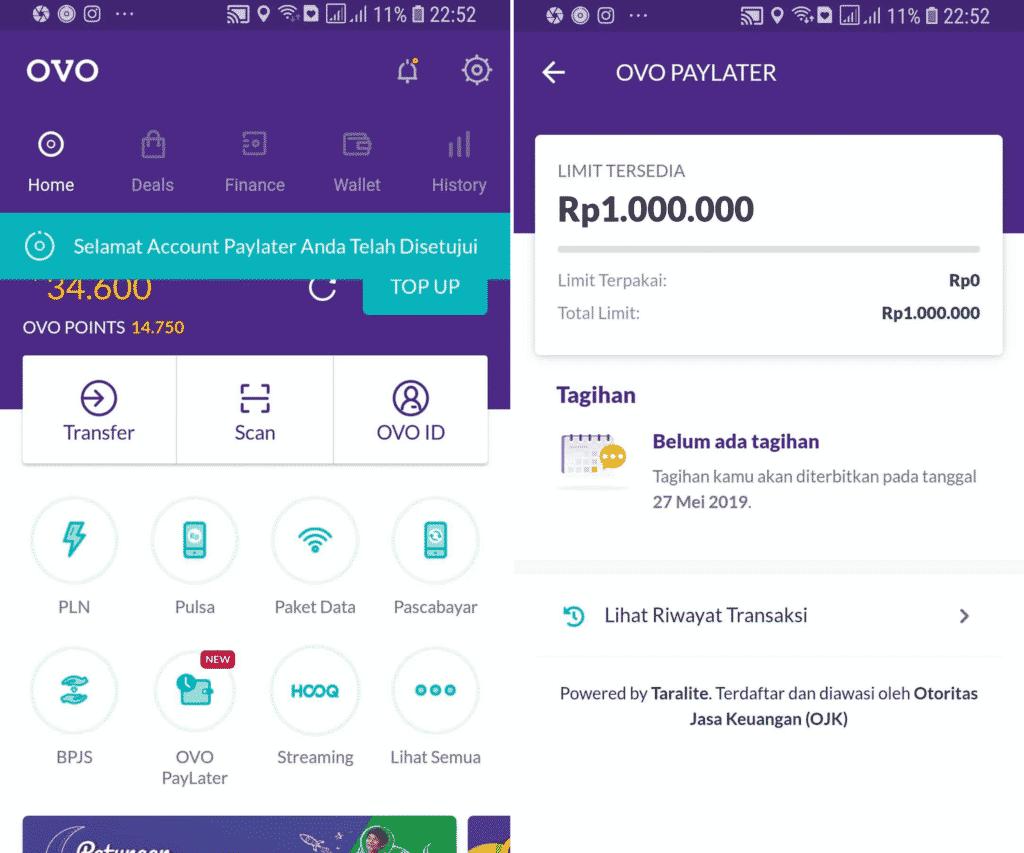 Cicilan Tanpa Kartu Kredit OVO PayLater