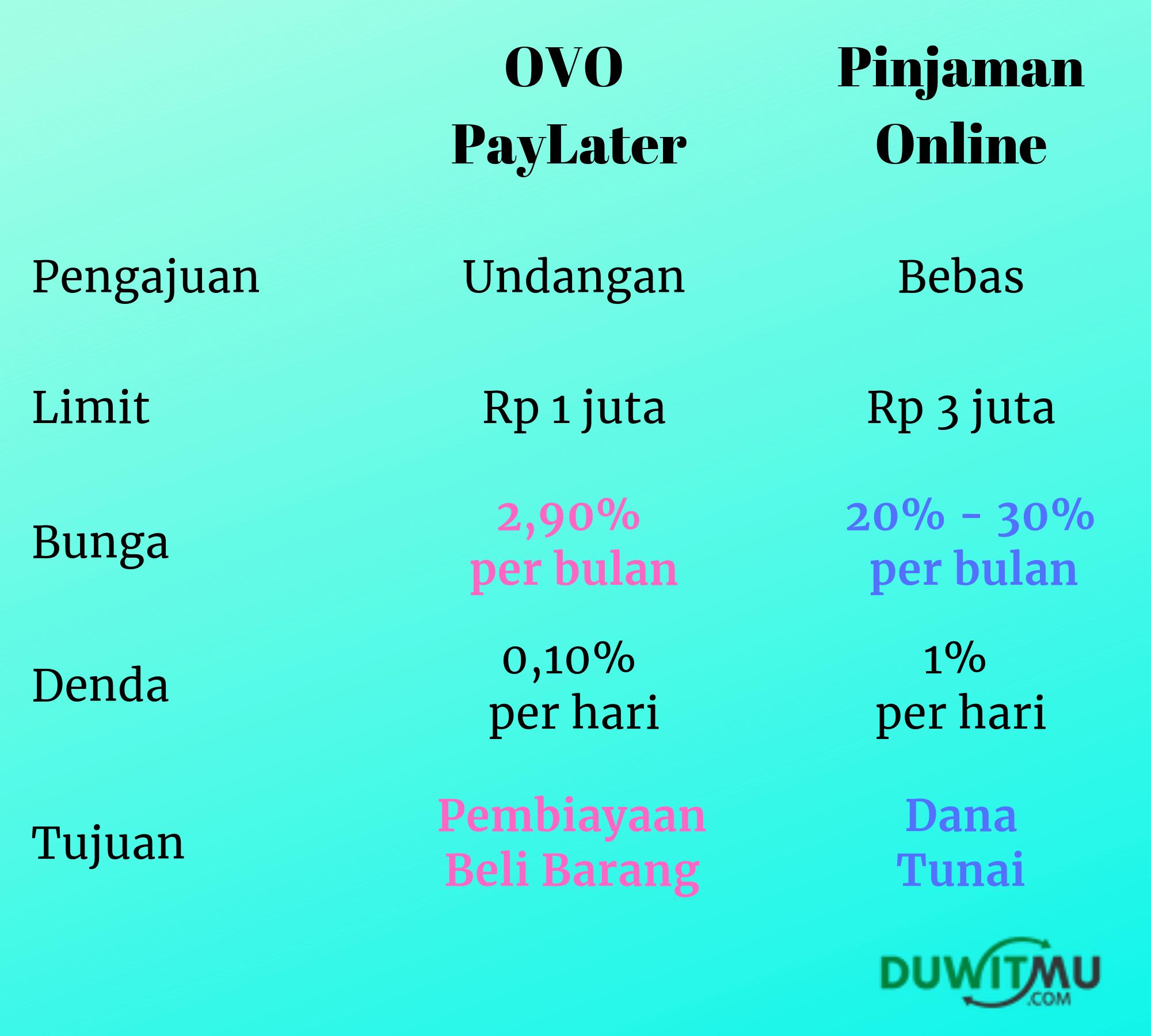 OVO PayLater vs Pinjaman Online, Siapa Terbaik