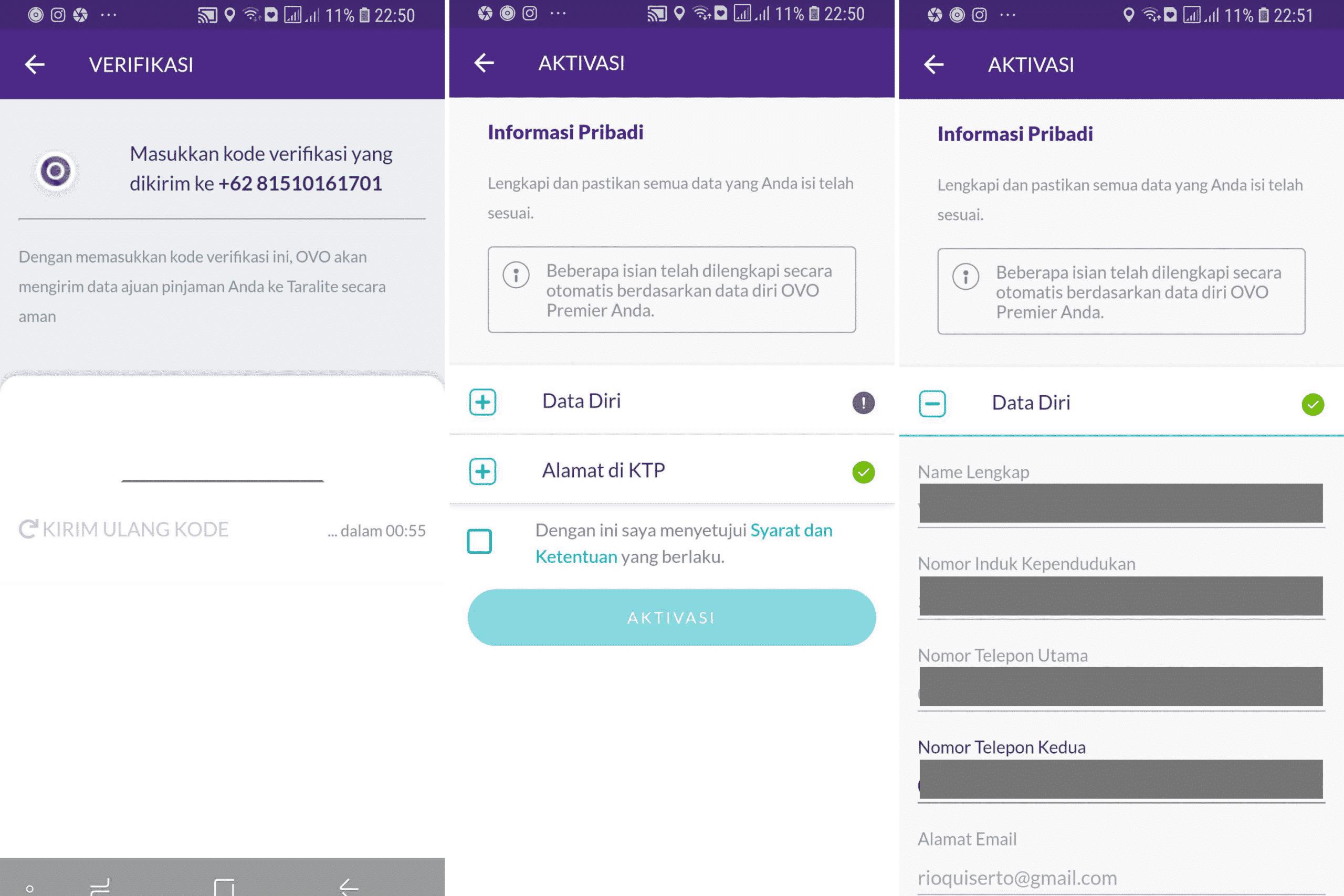 Pengisian Data OVO PayLater
