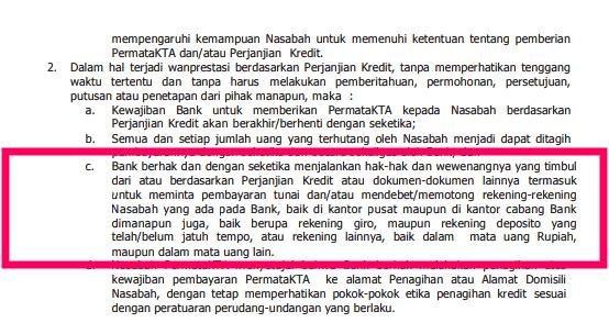 Klausul Kontrak Perjanjian Pinjaman KTA