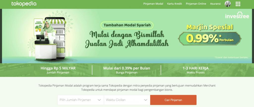 Pinjaman Modal Usaha Tokopedia.