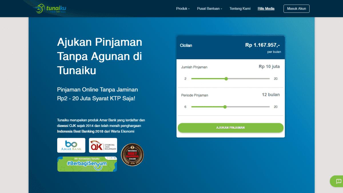 Tunaiku Pinjaman Online Tanpa Jaminan 2020 Bunga Syarat Tips Disetujui Pinjaman Online Investasi Keuangan Asuransi Duwitmu