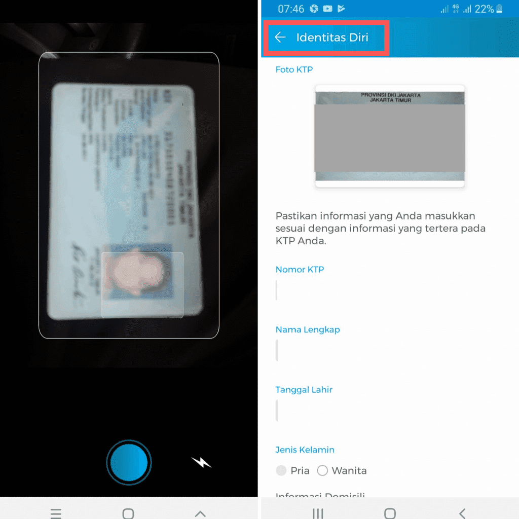 Upload Data KTP Aplikasi Julo Pinjaman Online