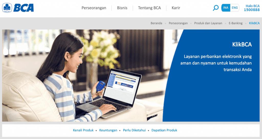 KlikBCA Internet Banking Bank BCA