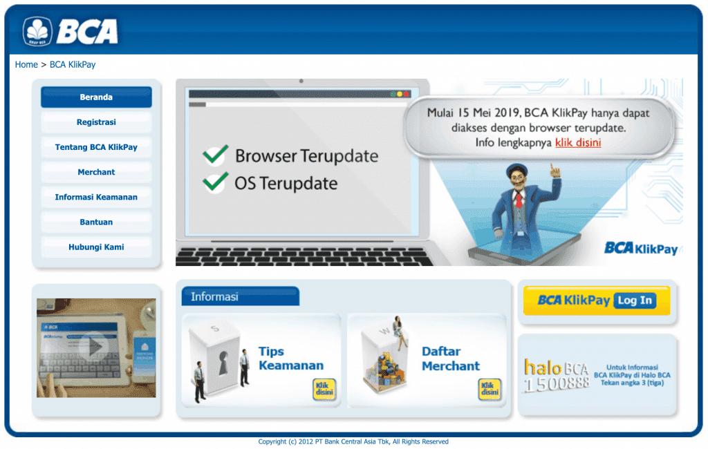 BCA KlikPay Pembayaran E-Commerce