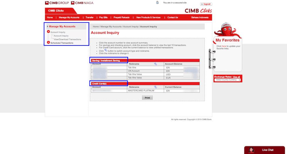 Akun Internet Banking CIMB Niaga