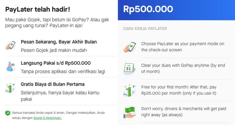 Gojek PayLater Metode Pembayaran