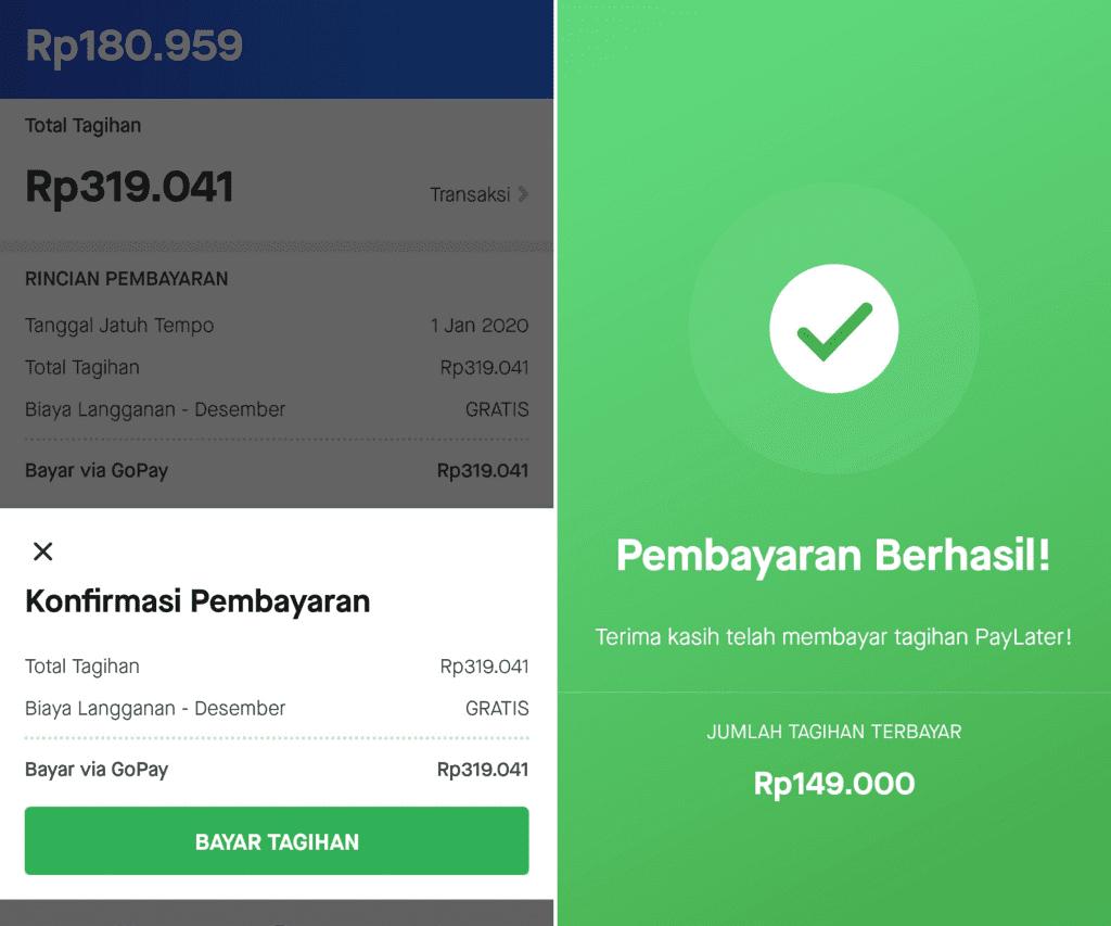 Bayar Gojek PayLater dengan Saldo GoPay