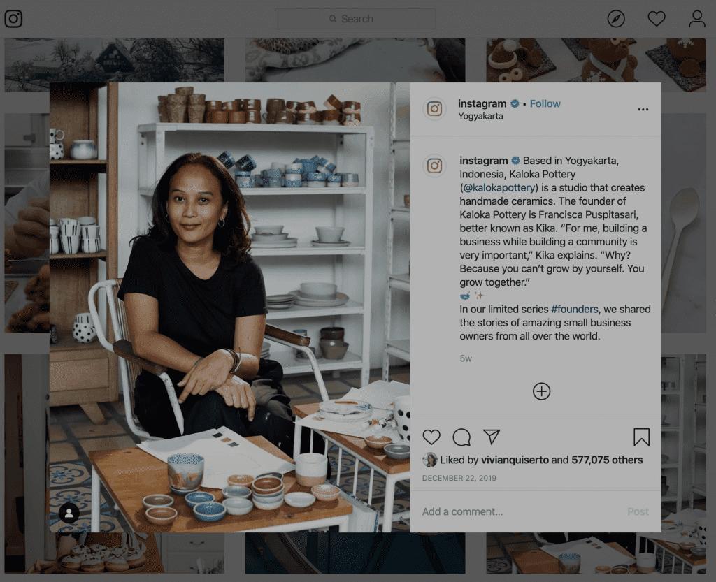Kaloka Pottery Instagram