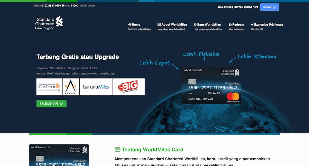 SCB MasterCard WorldMiles