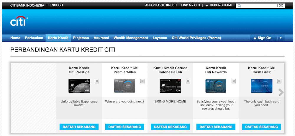 Perbandingan Kartu Kredit