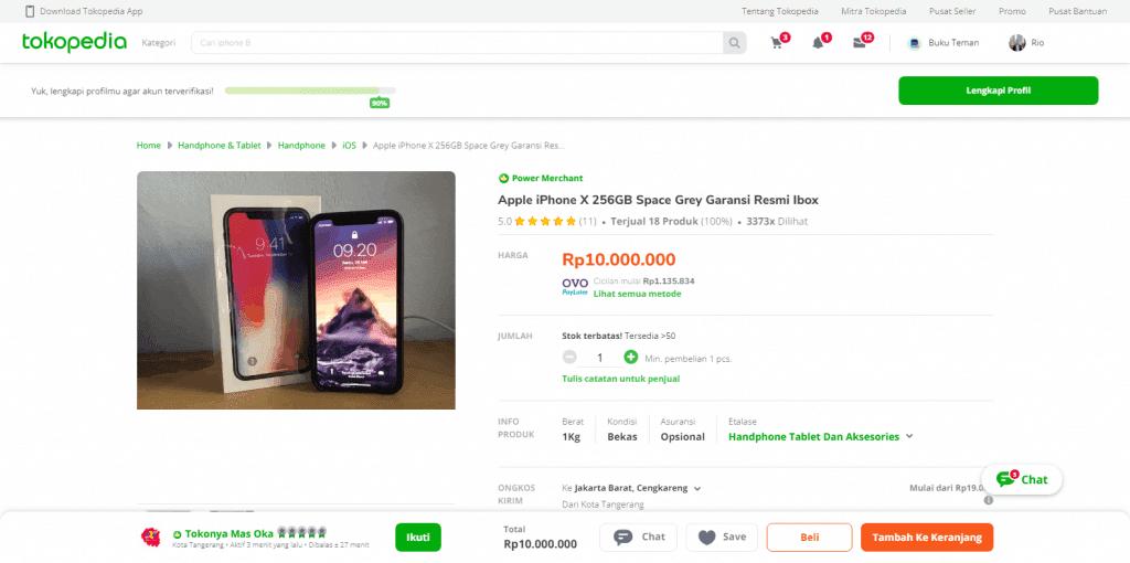 Beli Iphone Rp 10 juta di Tokopedia Online