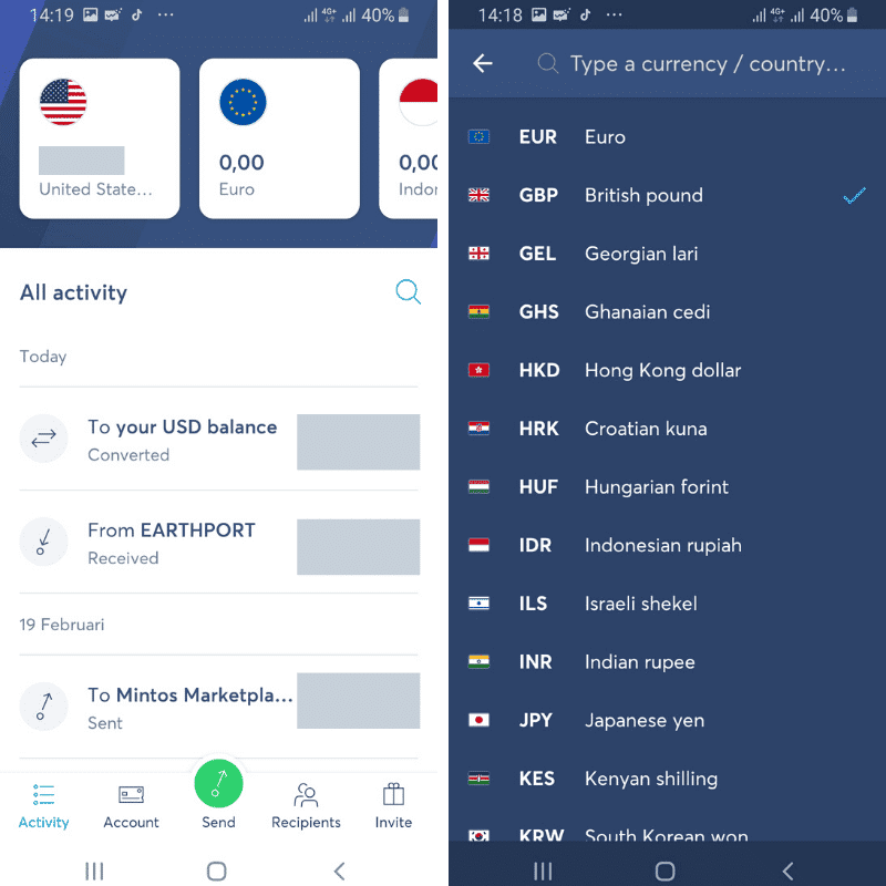 Multi Currency Account TransferWise
